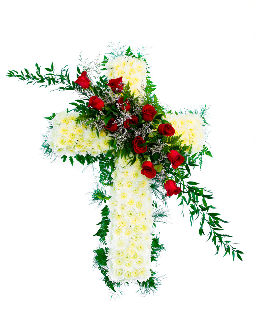 Alexs flowers floral cross table arrangement izmirmasajfo